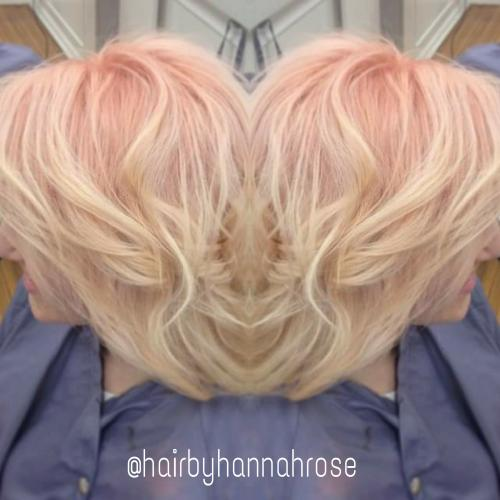 Blonde & pink hair color