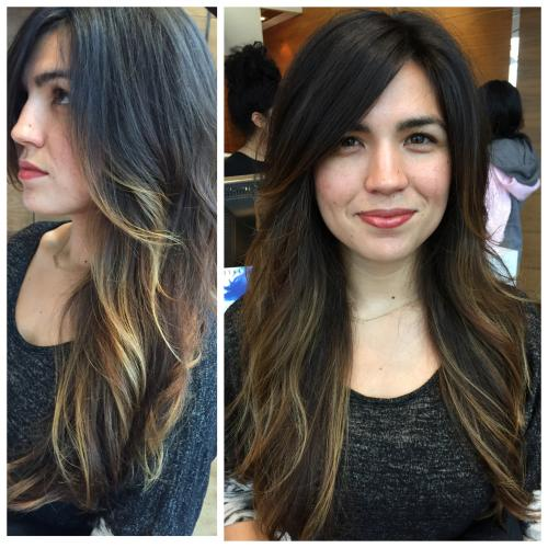 Doza Barcelona Dosha salon spa hairstylist hair haircolor color haircutting haircuts Portland fashion behind the scenes before and after
