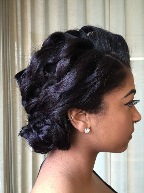Wedding up-do Dosha Salon Spa