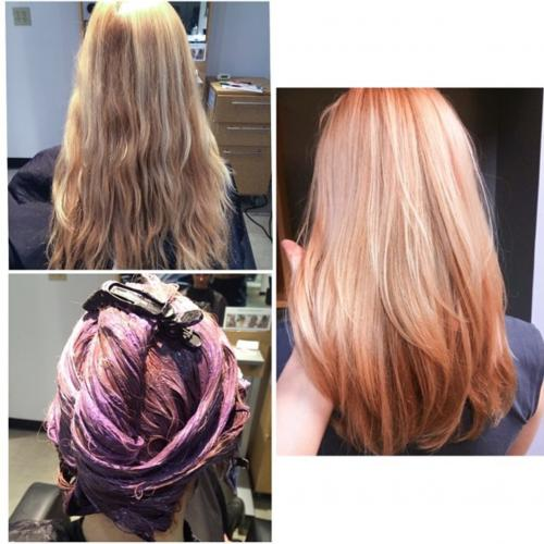 Hair Color Pink Aveda Dosha Salon Spa