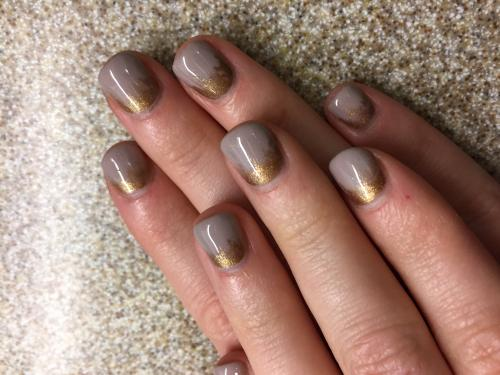 Gold Ombre nail Art Dosha Salon Spa