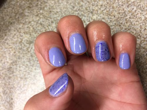 Nails Purple Speckles Nail Art