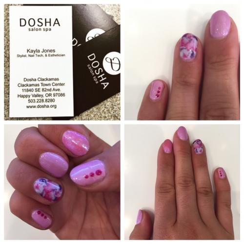 Pink Nail Art Dosha Salon Spa