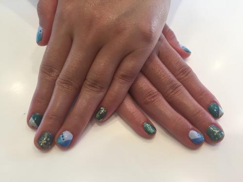 Geo Pattern Nail Art Dosha Salon Spa
