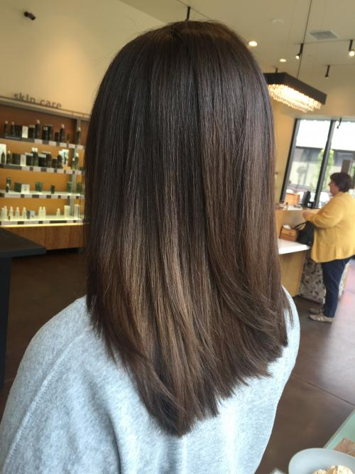 chocolate brown hair Dosha Salon Spa