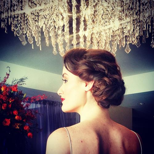 Real bride, bridal updo, bridal hair