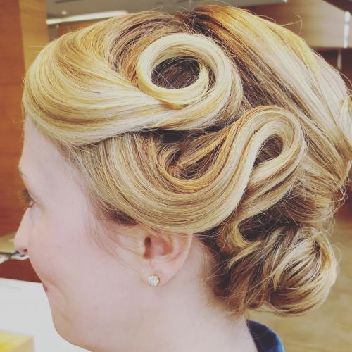 Styled Updo Dosha Salon Spa