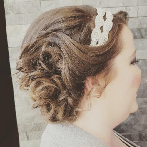 Beautiful Up-do Dosha Salon Spa