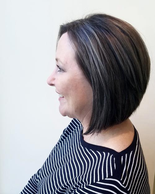 Hair Gray Bob Dosha