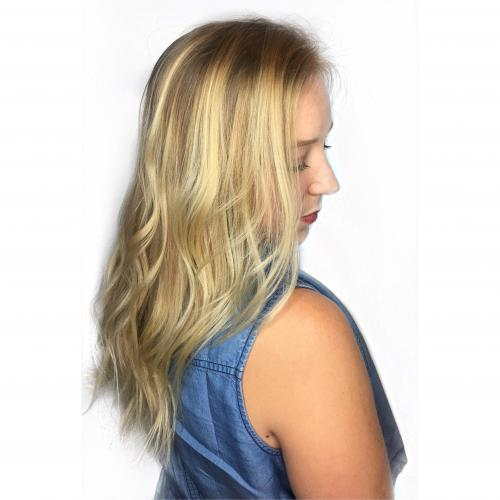 Dosha Blonde hair PDX Hair Color Aveda Salon Highlights