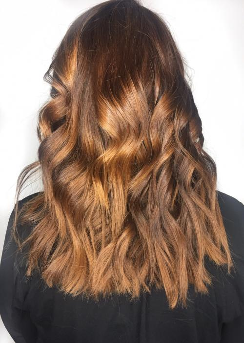 Golden Ombre Dosha Salon Spa Hair Color Aveda Natural Color