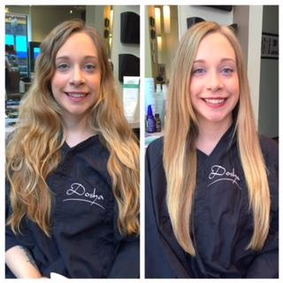 before and After Dosha Salon Spa Hair Cut