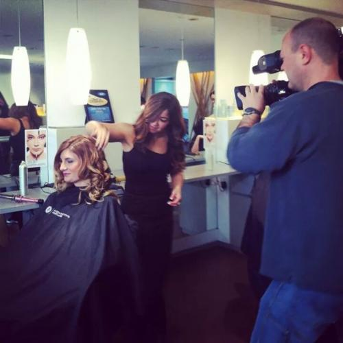 KGW filming, Dosha, Holiday hair