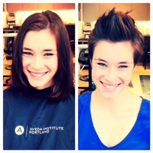 long to short hair, makeovers, dosha