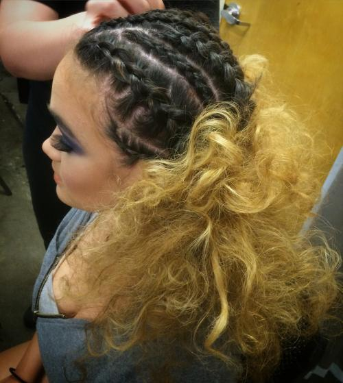 Braided Half-up Half-Down Dosha Salon Spa