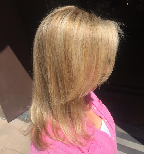 blonde Aveda Hair color Dosha Salon Spa