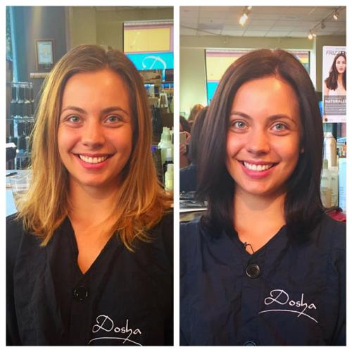 before and after, dosha salon