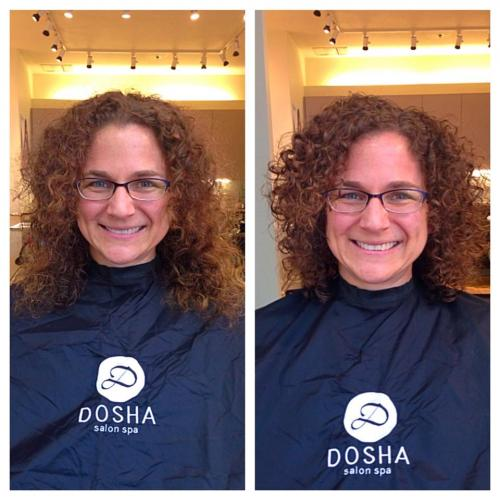 curly hair, makeover model, dosha