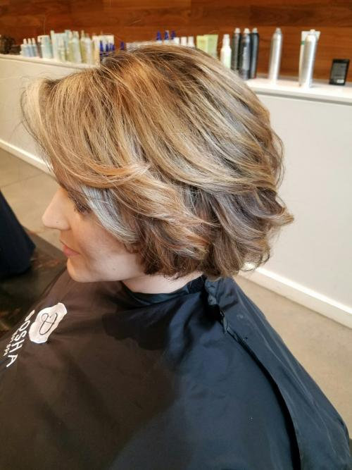 Dirty Blonde Bob Dosha Salon Spa