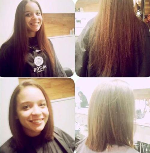 Guest makeover, long hair to short haircut