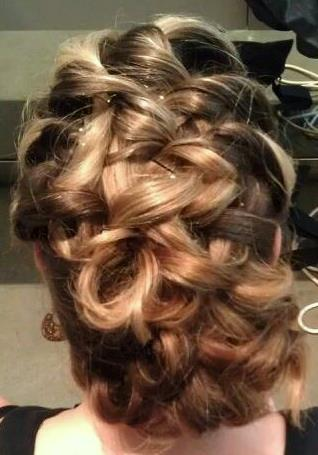 braided updo, Dosha Bride