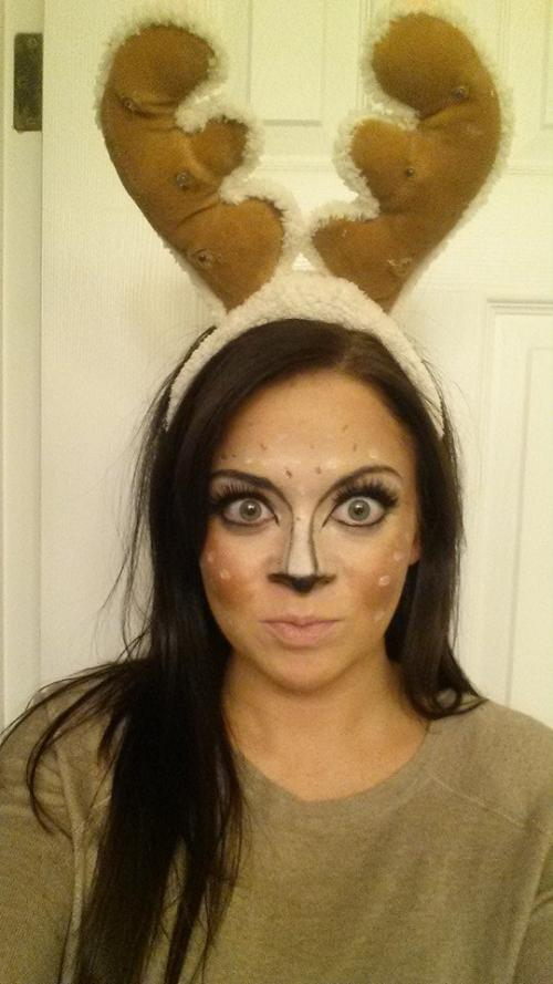 Deer face makeup, halloween costume