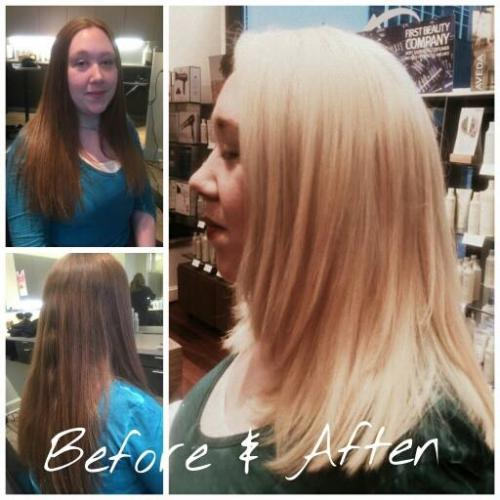 Before and after hair, dosha