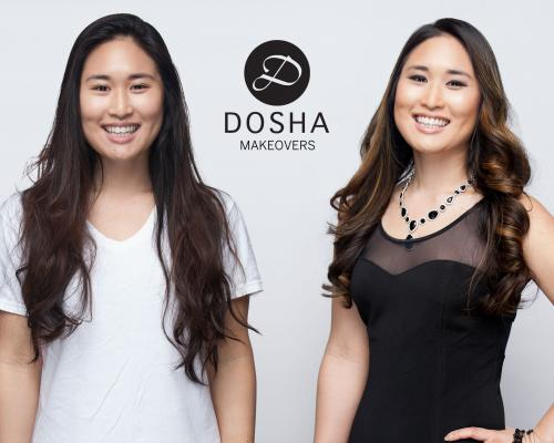 Dosha Creative Team Makeover Phototshoot long honey highlights