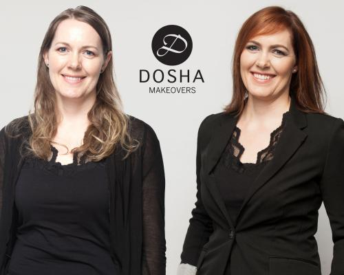 Dosha Creative Team Makeover Phototshoot redhead side swept bangs
