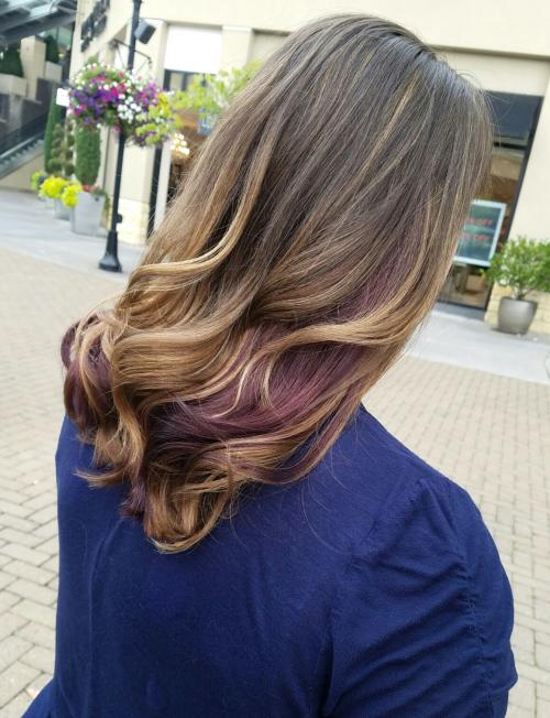 Purple Highlights Aveda Color Dosha Salon Spa