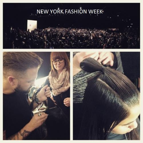 kristina paris, new york fashion week, behind the scenes