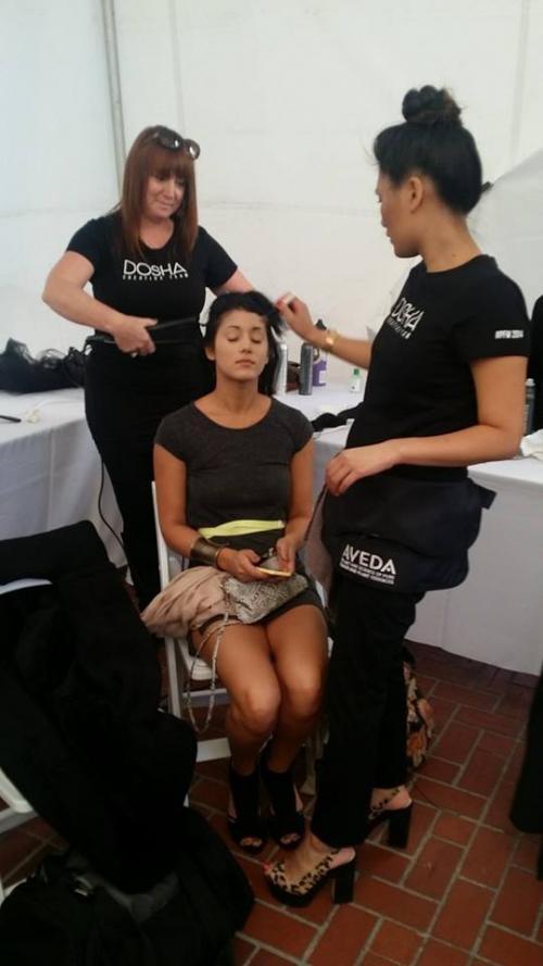 stylist & makeup artist, behind the scenes, portland fashion week
