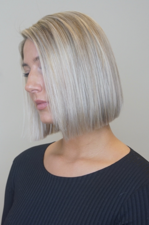 hair color, blonde, hightlights, client