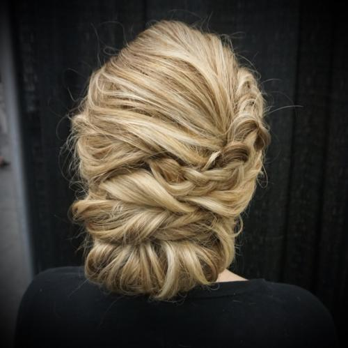 updo, blonde, bridal, twist, soft, formal