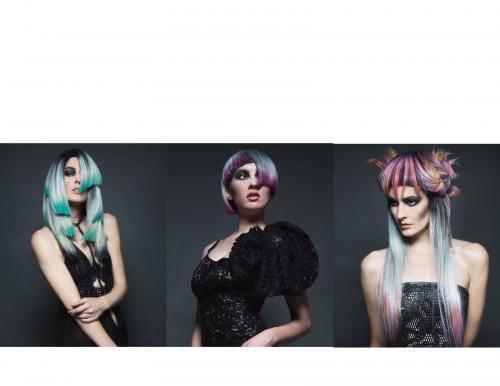 editorial, avant garde, fashion, hair, makeup, color