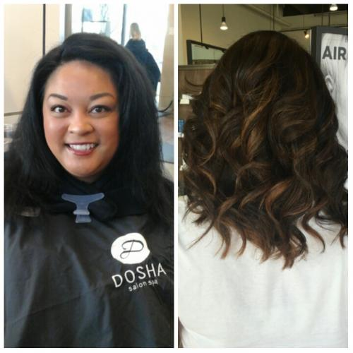 Before After Dosha Salon Spa