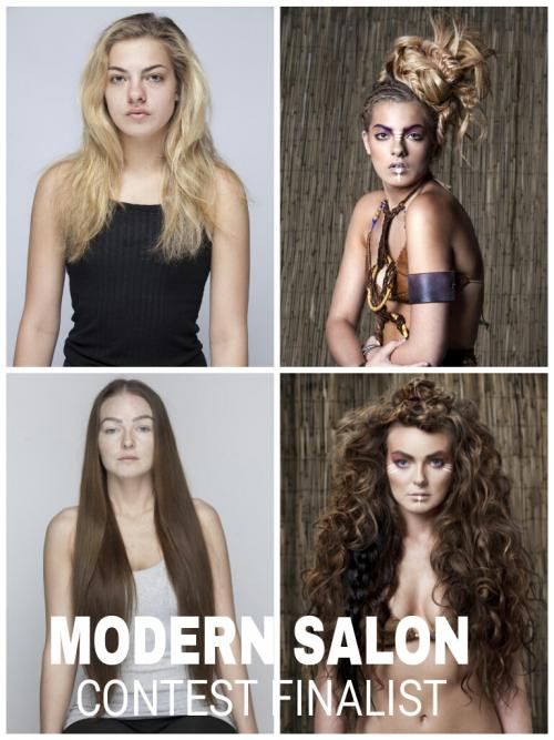 Hair extension models, Modern Salon, 2014 Contest