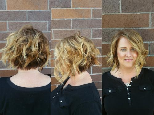 Styled Bob Dosha Salon Spa