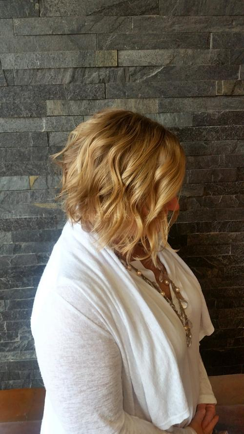 Curled Bob Dosha Salon Spa