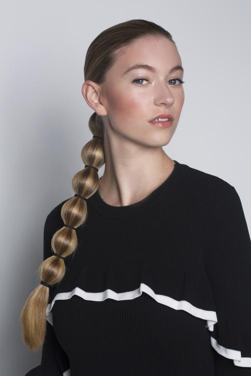 sleek, ponytail, pony, bubble, smooth, straight, hairstyle, updo, sporty, aveda, dosha salon spa, dosha creative team