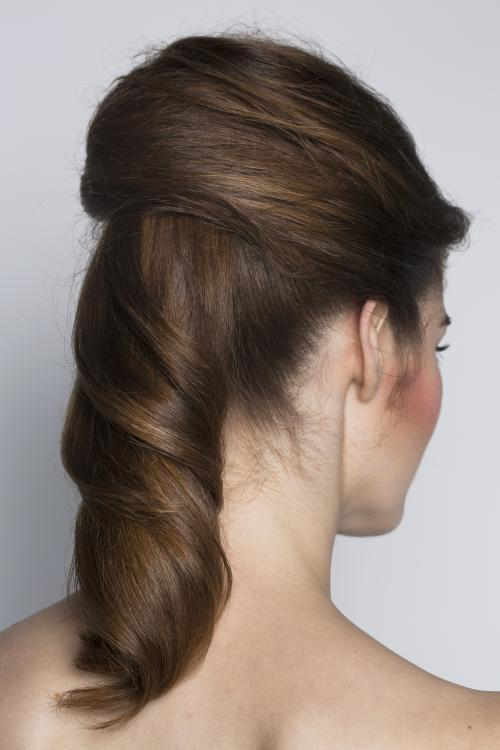 ponytail, pony, updo, hairstyle, sleek, date night, dosha, aveda, dosha creative team, straight