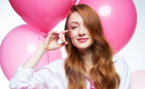 valentine's day, valentine, love, pink, makeup, hair, monochromatic