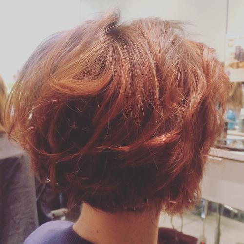Red hair Color Dosha Salon Spa