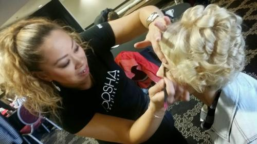 makeup application, behind the scenes rocked event