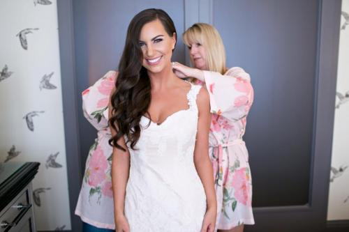 Dosha Bride PDX Hair and Makeup Photography Wedding Day Aveda Styling Updo