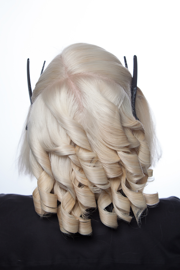 Halloween costumes makeup hair paper doll Dosha Salon Spa Creative Team makeup artist hairstylist costume DIY